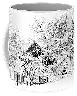 Wooden House After Heavy Snowfall. Russia Coffee Mug