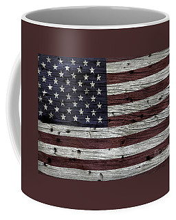 Wooden Textured Usa Flag3 Coffee Mug by John Stephens