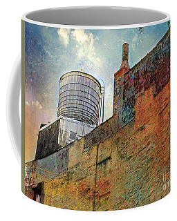 Wooden Water Tower New York City Roof Top Coffee Mug
