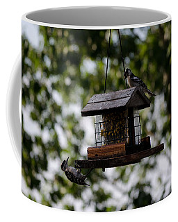 Woodpeckers At Dinner Coffee Mug