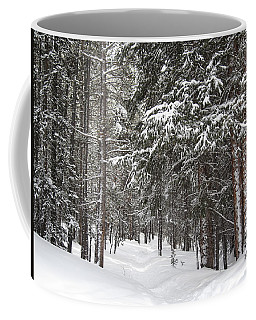 Woods In Winter Coffee Mug by Eric Glaser