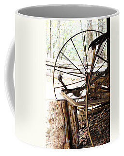 Coffee Mug featuring the photograph Woody And Wheely by Faith Williams