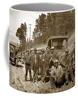Workers On Highway One Monterey Carmel Hill California 1929 Coffee Mug