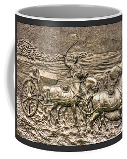 Coffee Mug featuring the photograph Working The Limber. Detail-a 1st New York Independent Battery - Cowans Gettysburg Autumn Morning by Michael Mazaika