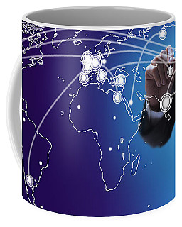 World Economies Map Coffee Mug