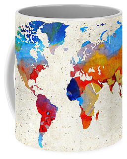 World Map 18 - Colorful Art By Sharon Cummings Coffee Mug