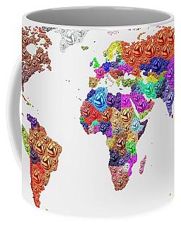 World Map - Soccer Football 2014 Coffee Mug