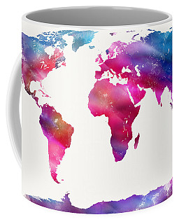 World Map Light  Coffee Mug