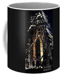 Coffee Mug featuring the photograph World Trade Center Museum At Night by Lilliana Mendez