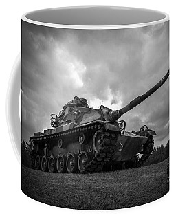 World War II Tank Black And White Coffee Mug