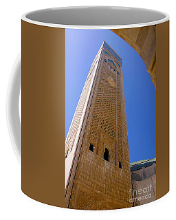 Coffee Mug featuring the photograph Worlds Tallest Minaret At 210m Hassan II Mosque Grand Mosque Sour Jdid Casablanca Morocco by Ralph A  Ledergerber-Photography