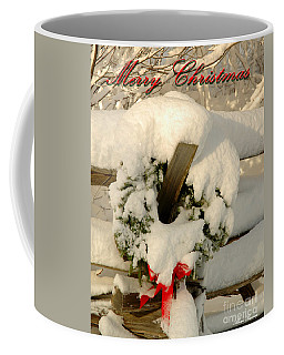 Coffee Mug featuring the photograph Wreath  by Alana Ranney