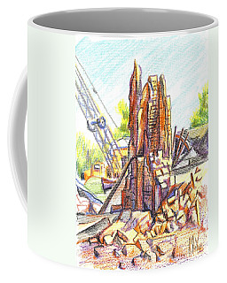 Coffee Mug featuring the painting Wrecking Ball by Kip DeVore