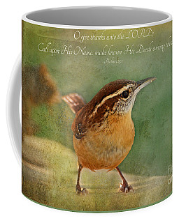 Wren With Verse Coffee Mug