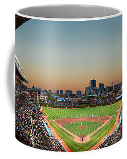Wrigley Field Night Game Chicago Coffee Mug