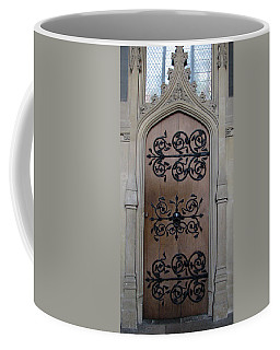 Coffee Mug featuring the photograph Wrought-iron Door by Stephanie Grant