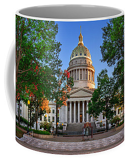 Wv Capitol As Dusk Coffee Mug by Mary Almond