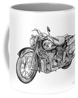 Ww2 Military Motorcycle Coffee Mug