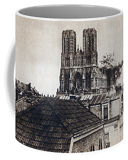 Wwi, Direct Hit, Reims Cathedral, 1914 Coffee Mug