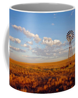 Windmill At Sunset Coffee Mug