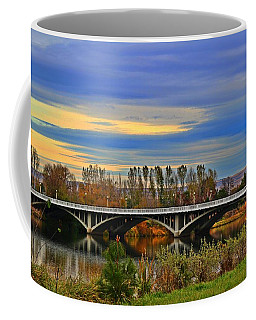 Coffee Mug featuring the photograph Yakima River Bridge by Lynn Hopwood