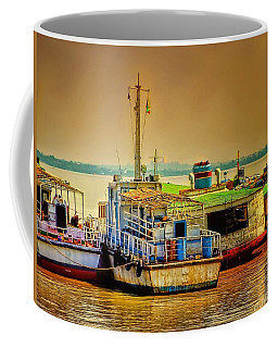 Coffee Mug featuring the photograph Yangon Harbour by Wallaroo Images