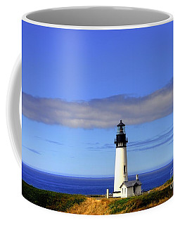 Coffee Mug featuring the photograph Yaquina Head Light   2 by Mel Steinhauer