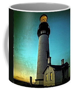 Yaquina Head Lighthouse At Sunset Coffee Mug