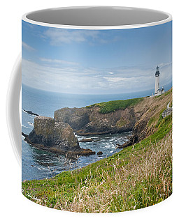 Yaquina Head Lighthouse Coffee Mug by Jeff Goulden