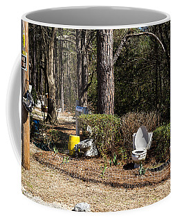 Yard Art Hwy 21 South Coffee Mug