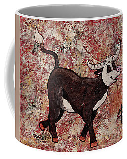Coffee Mug featuring the painting Year Of The Ox by Darice Machel McGuire