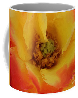 Yellow And Orange Rose Coffee Mug