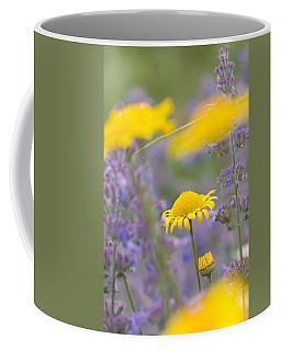 Yellow And Purple Flowers On A Green Summer Meadow Coffee Mug