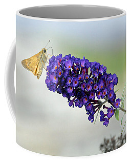 Yellow And Purple Coffee Mug by Kenny Francis