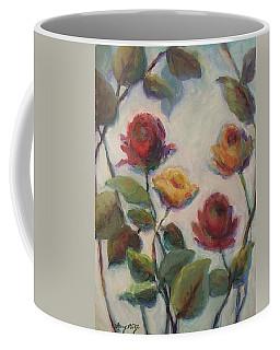 Yellow And Red Roses  Coffee Mug