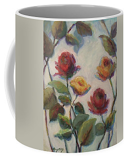 Yellow And Red Roses  Coffee Mug