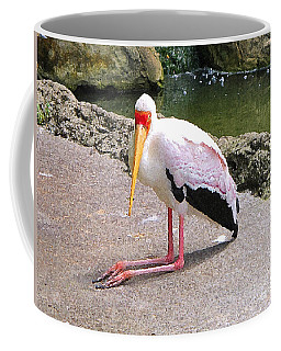 Coffee Mug featuring the photograph Yellow-billed Heron by Sergey Lukashin