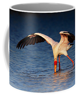 Yellow-billed Stork Hunting For Food Coffee Mug