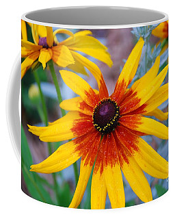 Coffee Mug featuring the photograph Yellow Burst by Allen Beatty