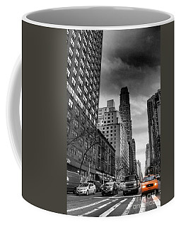 Yellow Cab One - New York City Street Scene Coffee Mug
