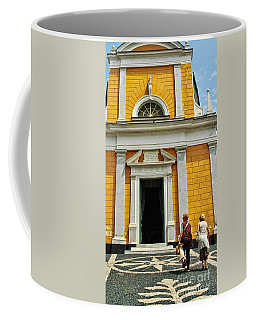 Coffee Mug featuring the photograph Yellow Church by Allen Beatty
