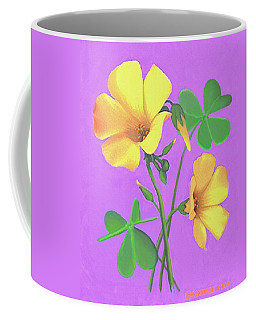 Yellow Clover Flowers Coffee Mug
