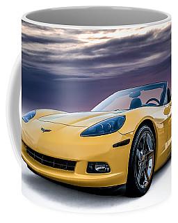 Yellow Corvette Convertible Coffee Mug