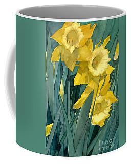 Watercolor Painting Of Blooming Yellow Daffodils Coffee Mug