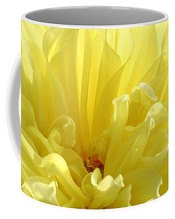 Yellow Dahlia Burst Coffee Mug