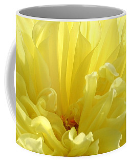 Yellow Dahlia Burst Coffee Mug by Ben and Raisa Gertsberg