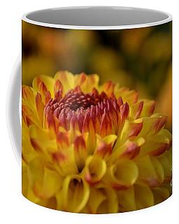 Yellow Dahlia Red Tips Coffee Mug