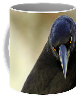 Yellow Eyes Coffee Mug by Miroslava Jurcik