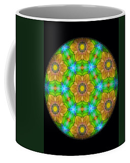 Yellow Flower Mandala Coffee Mug