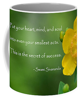 Yellow Flower With Success Quote Coffee Mug